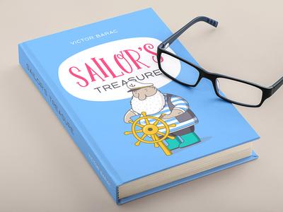 Book Design font typeface type typography cover book sailor letter blue notebook design