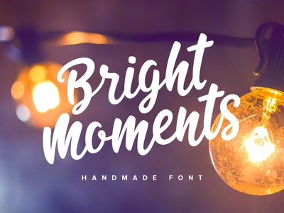 Bright Moments woman girl wedding letter feminine baby child typography type typeface font