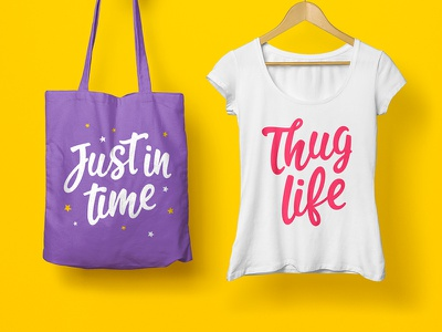 T-Shirt & bag design font typeface type typography bag design feminine letter tshirt girl woman