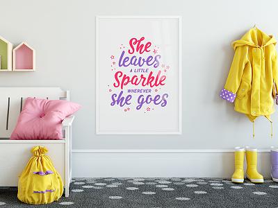 Poster design woman girl tshirt letter feminine design bag typography type typeface font
