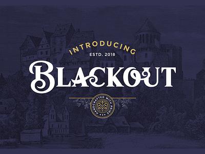 Blackout Font design letter lettering logo antique vintage retro typography type typeface font