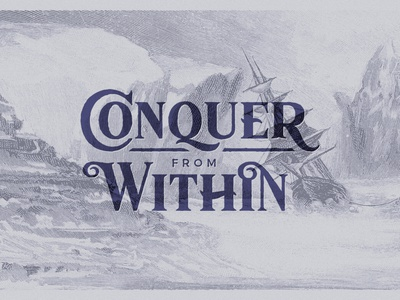 Conquer from Within design letter lettering logo antique vintage retro typography type typeface font