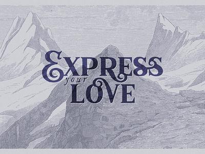 Express your Love font typeface type typography retro vintage antique logo lettering letter design