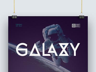 Galaxy poster branding illustration lettering retro vintage design letter logo typeface type font typography