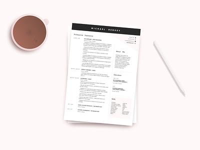 Resume ux design ux resume resume resume design illustration ux ui design