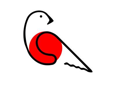 Red Bird vector branding icon bird logo illustrator