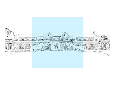 Waverley venue wedding vectorart illustrator