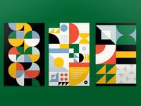 Signal Theory Brochure midcentury pattern design poster print vector pattern design illustration