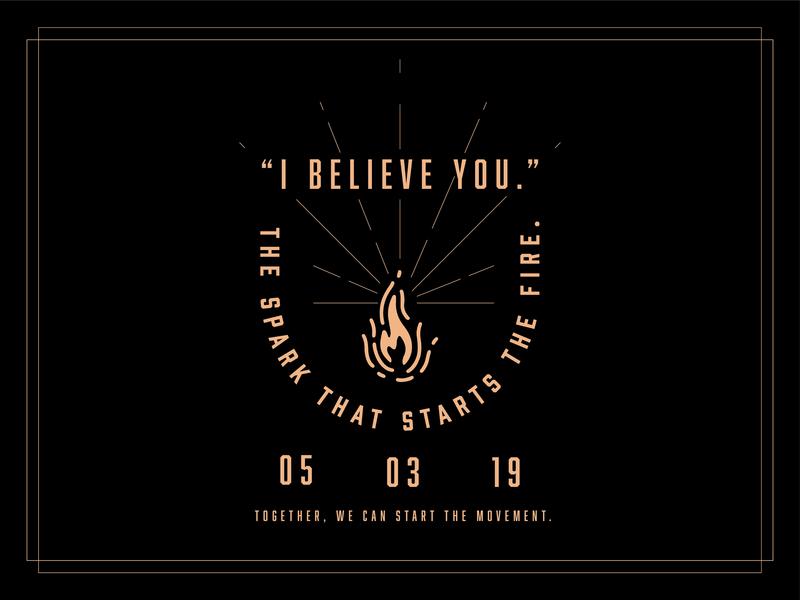 I Believe You logo illustration badge design campaign lock up typography