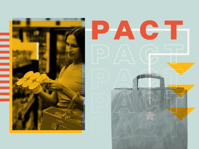 PACT geometric design collage midcentury modern graphic design