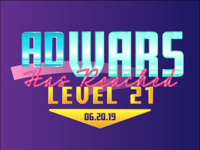 Ad Wars wordmark logotype logo typogaphy retro design 90s 80s type lockup design