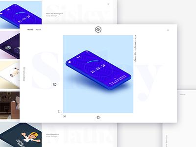Portfolio redesign webiste typography minimal intercafe redesign blog portfolio ui ux