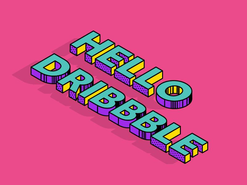 Hello Dribbble memphis hellodribbble dribbbleworld debut 设计 插图 ui