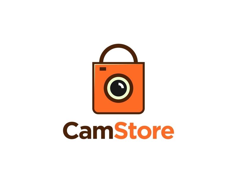 Cam Store logo a day logo cartoon vector design flat logo design branding icon logo