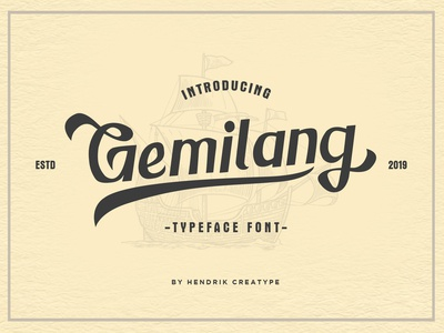 Gemilang Typeface Font