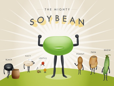The Mighty Soybean - Illustration by Marcus Meazzo