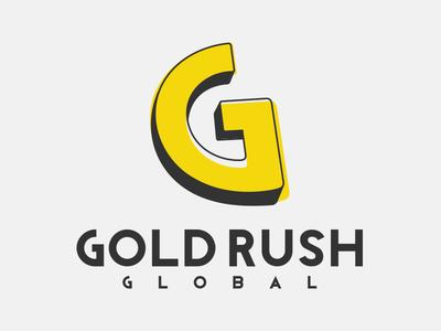"Gold Rush ""G"" Mark monogram identity yellow brand unchosen g gold branding illustration logo"