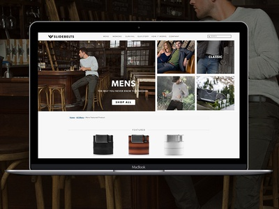 Collection Landing Page product page landing page website uxui ecommerce apparel layout design layout interactive ui web design web