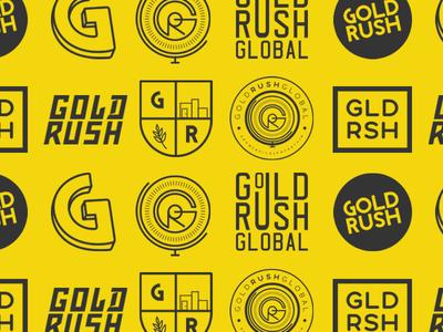 Gold Rush Global Branding pen tool adobe illustrator kit brand g logo yellow g gold logos identity branding