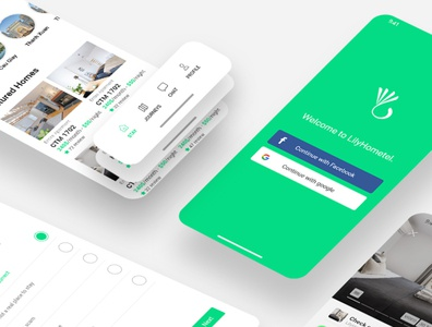 UI design Lily Hotel booking application app design application uidesign ui uiux