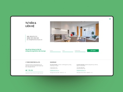 THIEN INTERIOR - Web design interiordesign footer design webdesign ui