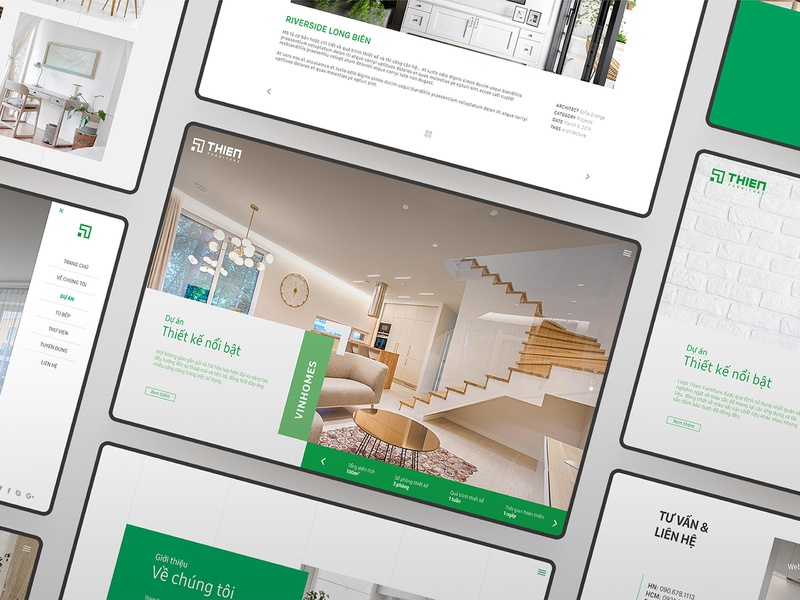Web design - THIEN FURNITURE green webdesign ux branding ui