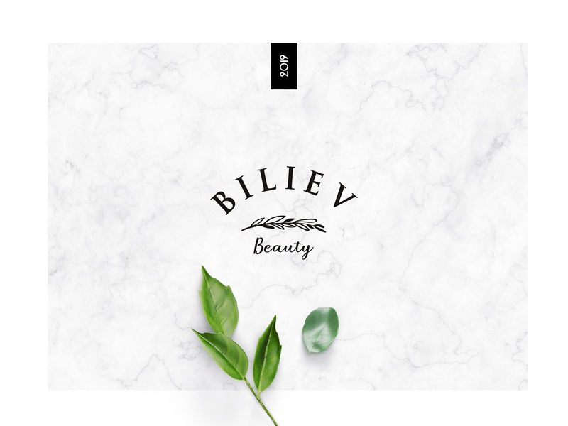 Biliev marble green beauty logo brand