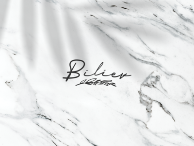 Biliev beauty design branding logo