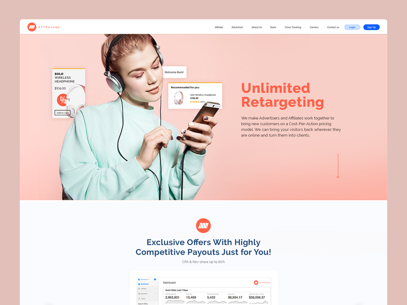 AffVolume web design