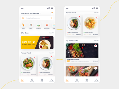 Food App - home page
