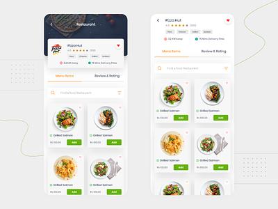 Food App - view restaurant typography app passion work online flat clean ui ux mobile design