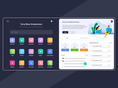 CRM Portal minimal typography app branding flat clean web ux ui design