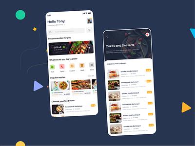 Food App online minimal clean flat passion work mobile app ux ui design