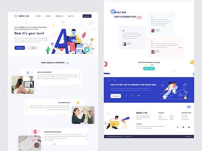 Landing Page online education education landing webdesign icon minimal online ios flat clean passion work mobile app ux ui design