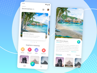 Travel App _ Tourism Concept :) passion work mobile app ui ux design