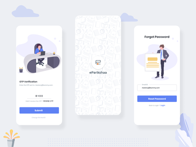 Education App (competitive exam learning) illustration flat clean online passion work ux ui mobile design app