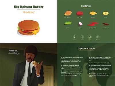 Big Kahuna Burger WIP movie layout vector fresh illustration design graphic wip print project food burger