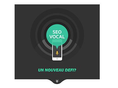 Seo Vocal Infographic illustration web vector infographics siri cortana futur google vocal seo