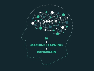 Detail vector graphic illustration google robot seo learning machine ai
