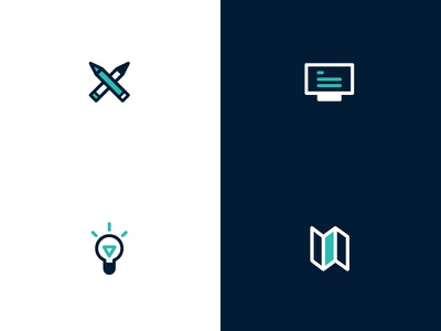 Icon for business card card business blue design simple graphic vector icon
