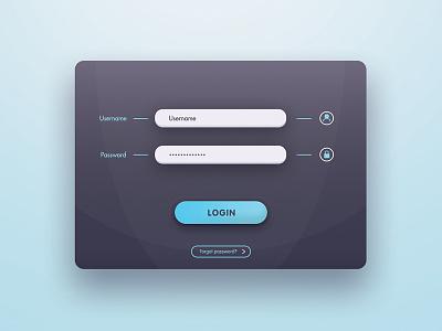 Login Interface interface sign form panel minimal web modern icon button login design ui
