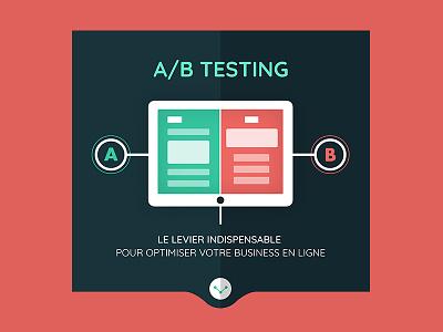 A/B Testing illustration ui webdesign test web graphic infographics testing