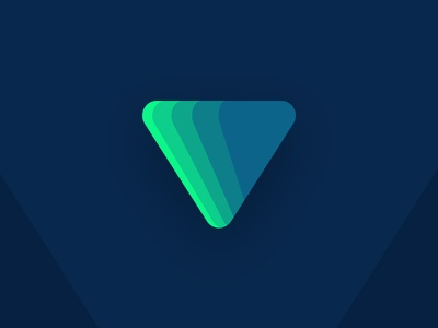Triangle logo concept graphic geometric minimal branding logo gradient triangle icon color blue green