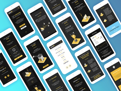 Moonify Mobile UI icon iphone ios yellow clean products responsive mobile design user interface ux ui workflow mobile app design illustration ui app workflow