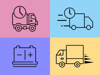 Fleet Management Icon Design Set #1