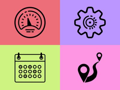 Fleet Management Icon Design Set #3