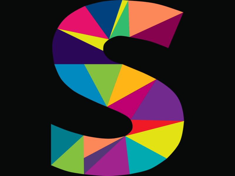 Letter Logo - S polyart geometric colours design branding logo vector design ui  ux design icondesign illustration gravit designer graphic design