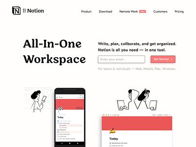 Notion Refresh principleapp animation sf product design product project refresh notion type minimal web typography vector branding logo design