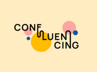 Confluencing - Typography typographic bauhaus playful experimental liquid movement confluencing confluence lettering logotype typogaphy