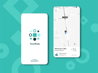 TestRide - Branding ux ui brand vector scientific laboratory test testing mobility logo icon splash screen splashscreen ui  ux app branding and identity branding
